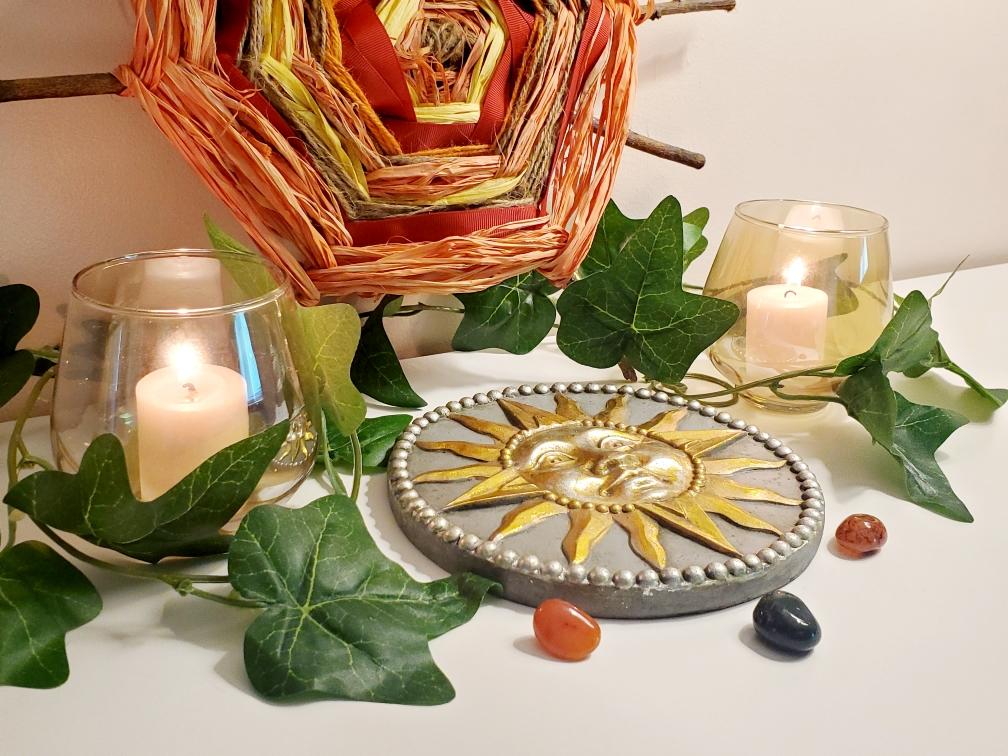 Litha, altar, witch, witchcraft, Midsummer, Midsummer Solstice, Summer Solstice, witchy