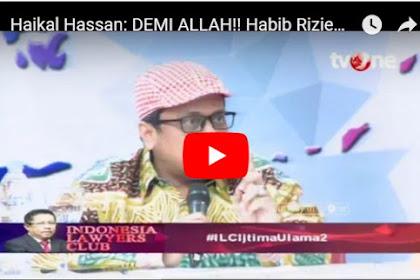 Gaya Ustadz Haikal di ILC TvOne Ini Bungkam Pendukung Jokowi