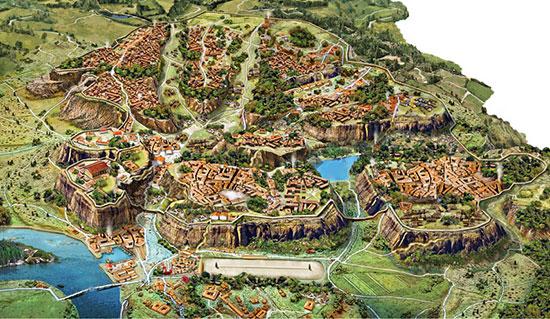 Colli Di Roma Cartina.I Sette Colli Di Roma Romanoimpero Com