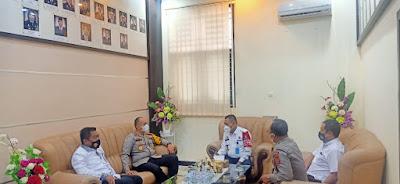 Usai silaturahmi Bersama PT Jambi, Kapolda Jambi, Irjen Pol A Rachmad Wibowo melakukan kunjungan dengan Kakanwil Kemenkuham Jambi