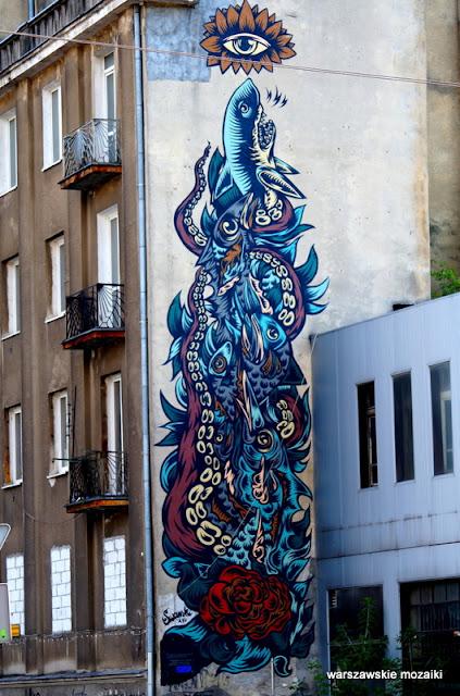 Warszawa Warsaw Wola  mural graffiti