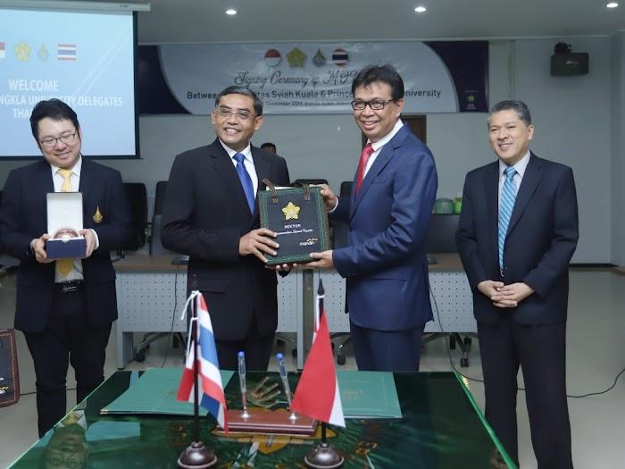 Rektor Unsyiah Apresiasi Jalinan Kerja Sama Dengan Prince Of Songkla University