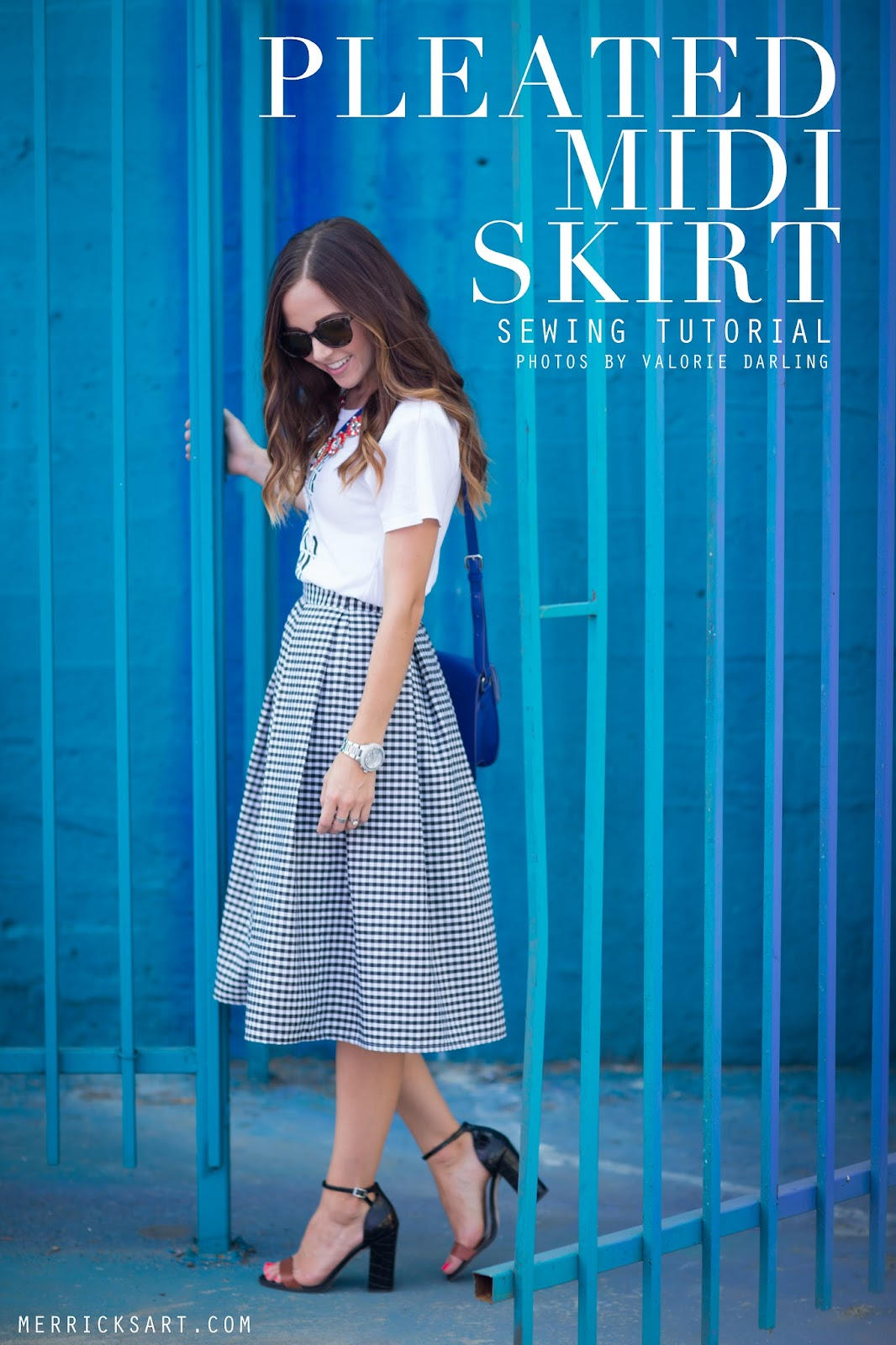 Quality Sewing Tutorials Pleated Midi Skirt Tutorial From
