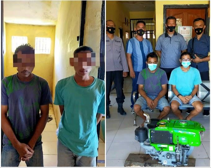 Curi Mesin Engkel, Dua Pria Asal Kempo Madya Dompu, Diringkus Polisi