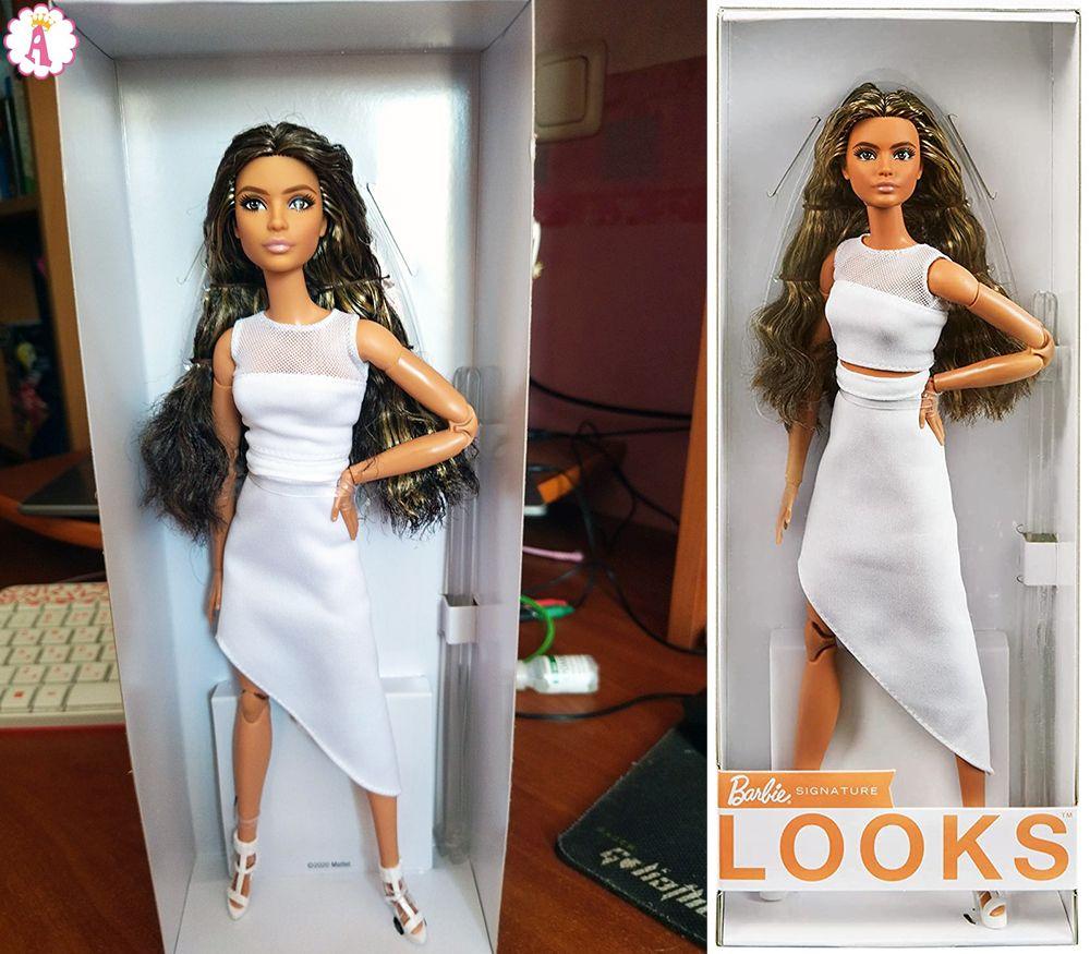 Кукла латиноамериканка #1 Barbie Looks 2021 распаковка