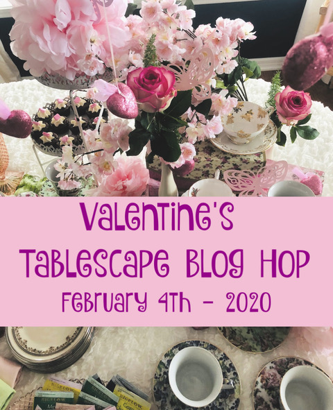 Valentine tablescape blog hop
