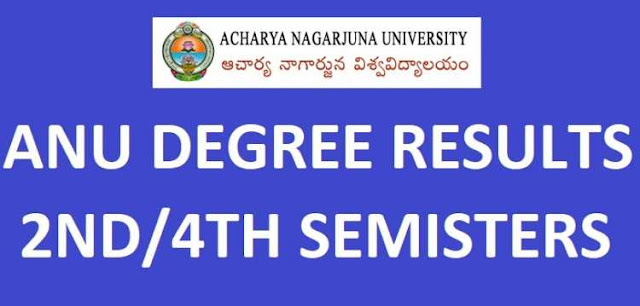 ANU Degree 2nd 4th Sem Results manabadi