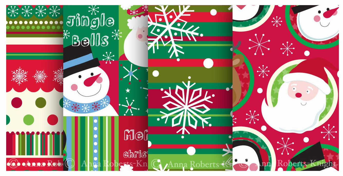 Christmas Gift Wrapper Design.Ark Designs By Anna Christmas Gift Wrap Design