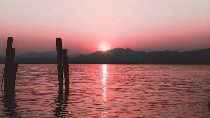 Mar, Horizonte, Pôr do Sol, Céu, Ondulações
