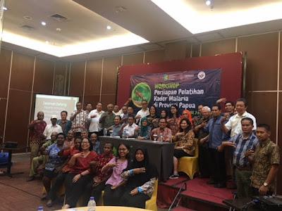 Workshop Persiapan Pelatihan Kader Malaria di Provinsi Papua Tahun 2018