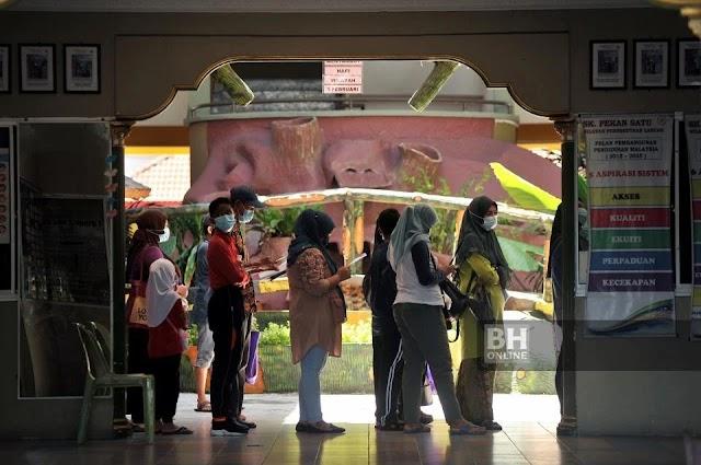 Lebih 300 pelajar, guru SK Pekan 1 di Labuan jalani ujian Covid-19