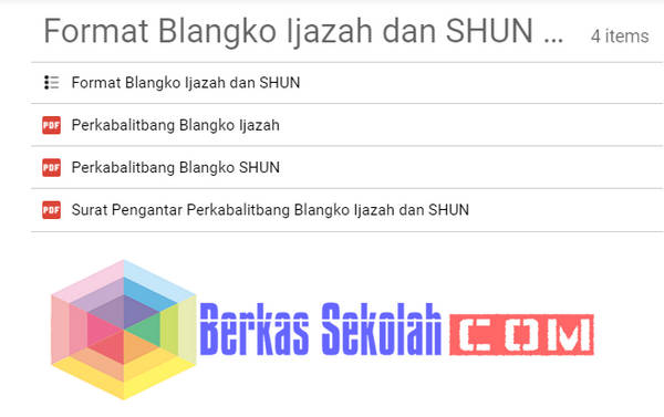 Format Blanko Ijazah dan SHUN Sementara versi BALITBANG
