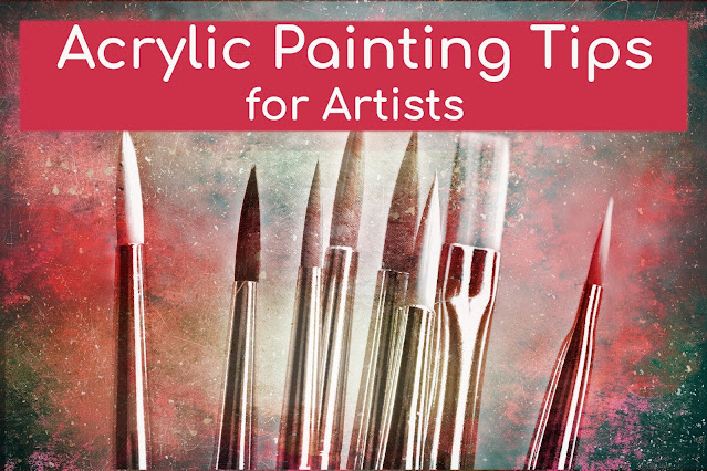 Crucial Painting tips for beginners and artist. Subjects like composition, rule of third, contrast colors, value contrast, texture, blending, medium