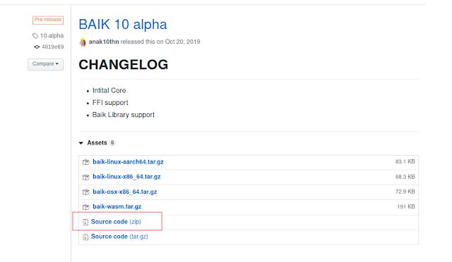 Cara Install BAIK-Lang 10 Alpha atau BAIKX