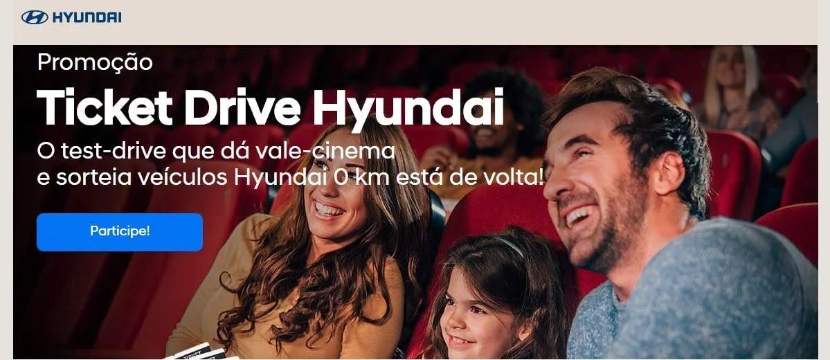 Promoção Hyundai Ticket Drive 2020 Ingresso Cinema