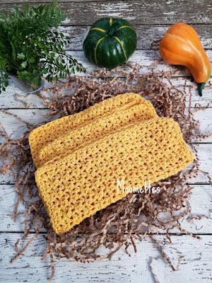 Handmade Cotton Dish Cloths Yellow Washcloths