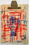 Modern abstract art on clipboards  by Miabo Enyadike