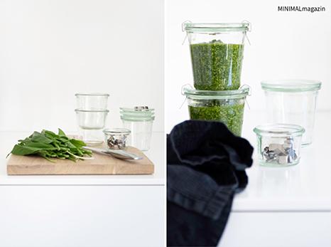 Wie erkenne ich Bärlauch? Im MINIMALmagazin findest du vier Tipps und ein Rezept für ein Bärlauchpesto - minimalistisch wohnen und leben!