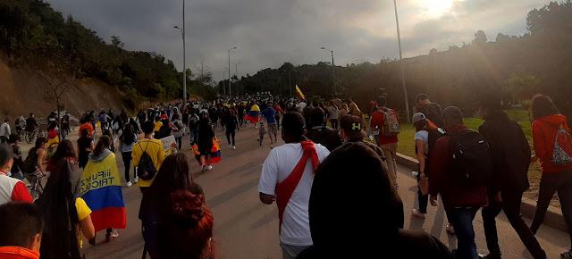 Manifestantes en las calles de Bogotá, ColombiaJeimmy Celemín