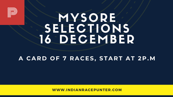 Mysore Race Selections 16 December