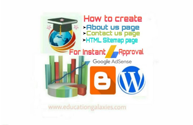 How to create About us, Contact us and HTML Sitemap pages in website