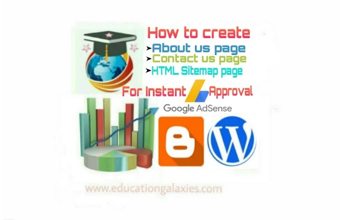 Create About us, Contact us and HTML Sitemap pages in website