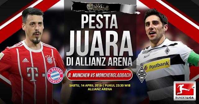 Prediksi Bayern Munchen Vs Borussia Monchengladbach, Sabtu 14 April 2018 Pukul 23.30 WIB