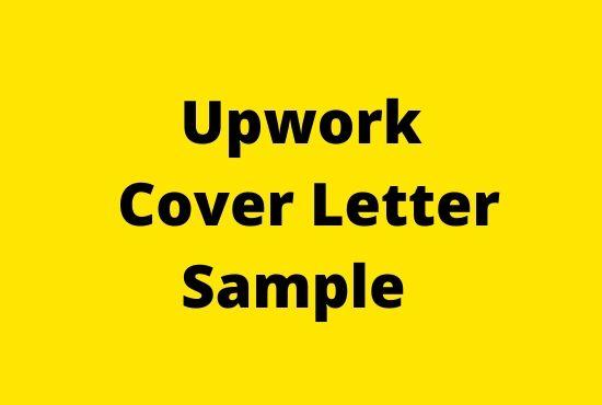 Upwork Cover Letter Sample  - Tech Teacher debashree