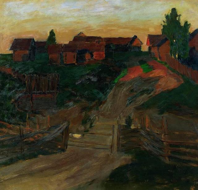 Исаак Ильич Левитан - Последние лучи солнца. 1899