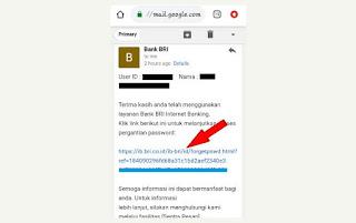 link untuk ganti password baru
