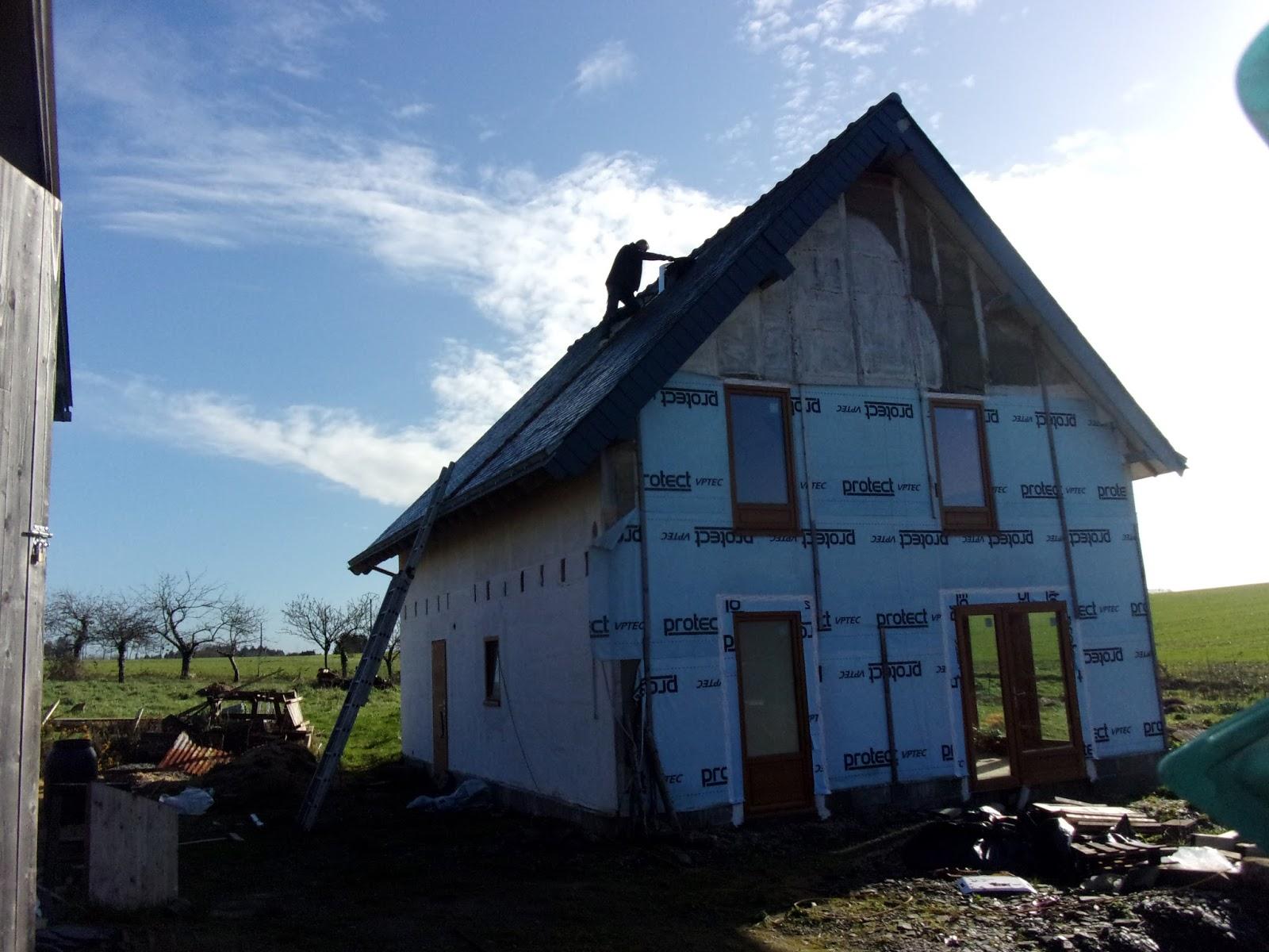 Construction de notre maison en bois et paille for Construction de maison en paille