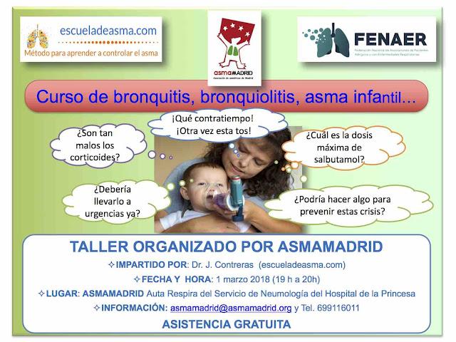 Taller gratuito de bronquitis, bronquiolitis y asma intantil