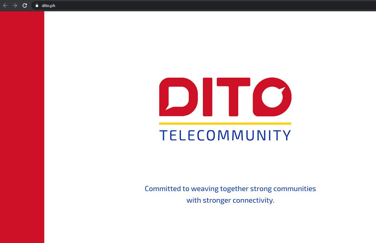 Dito Telecom Official Webiste