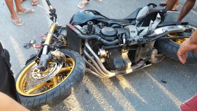 Acidente de moto em Varjota deixa 3 pessoas feridas e 2 são transferidas para Sobral.