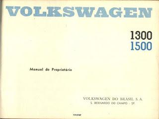 Manual do Proprietário Fusca 1972 1300 e 1500