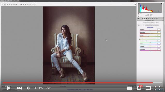 Обработка и тонирование в Adobe Camera Raw