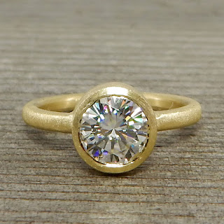 moissanite 18k gold ring