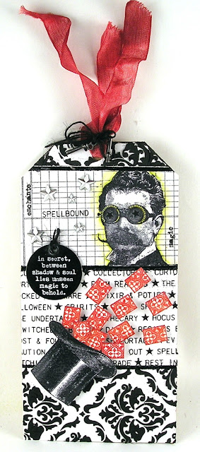 Stampers Anonymous The Professor, Stampers Anonymous On The Farm Idea-Ology - Halloween Adornment Idea-Ology Remnant Rubs For the Funkie Junkie Boutique