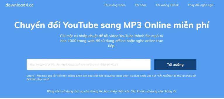 Hỗ trợ tải video Youtube hiệu quả từ Download4.CC