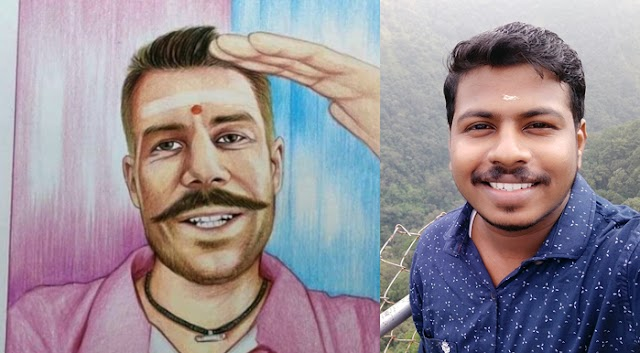 Lijesh's drawing takes over by Warner; The success of a Malayalee artist