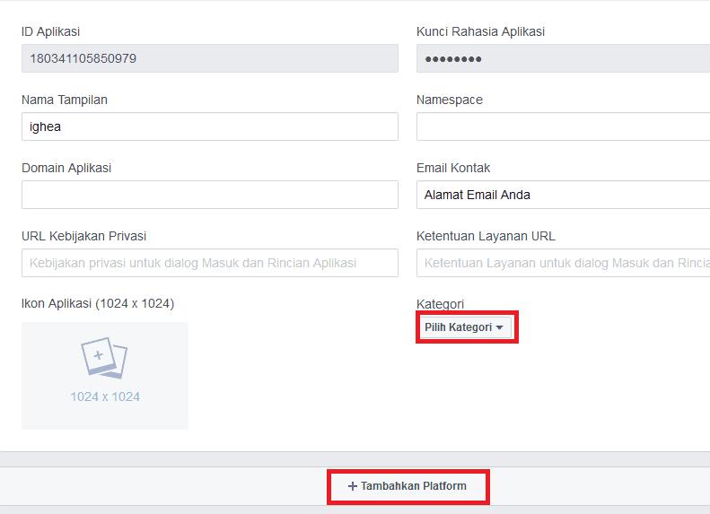 cara mendapatkan kode app id facebook