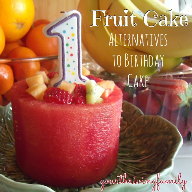 A New Kind of Fruit Cake - and healthy alternatives for traditionalbirthday cake.