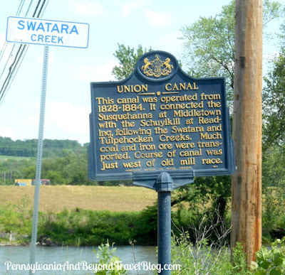Union Canal Historical Marker in Middletown Pennsylvania