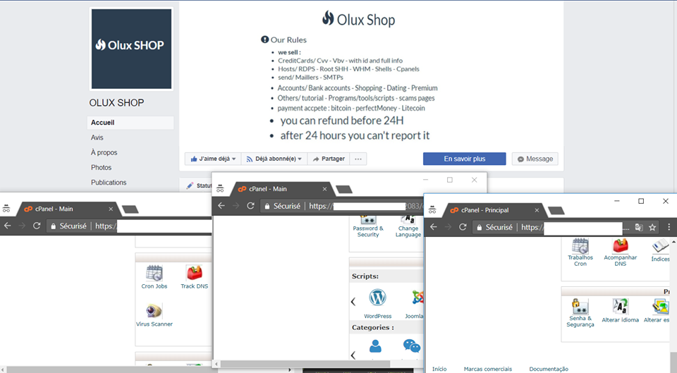 Cpanels - olux shop Buy spam tools | Bank logins | Cpanel