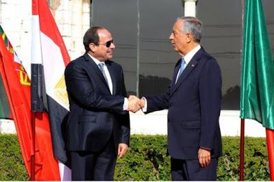 الرئيس عبد الفتاح السيسي و الرئيس البرتغالى مارسيلو دى سوزا