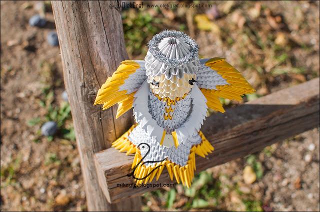 616. Anioł z origami / 3d origami angel