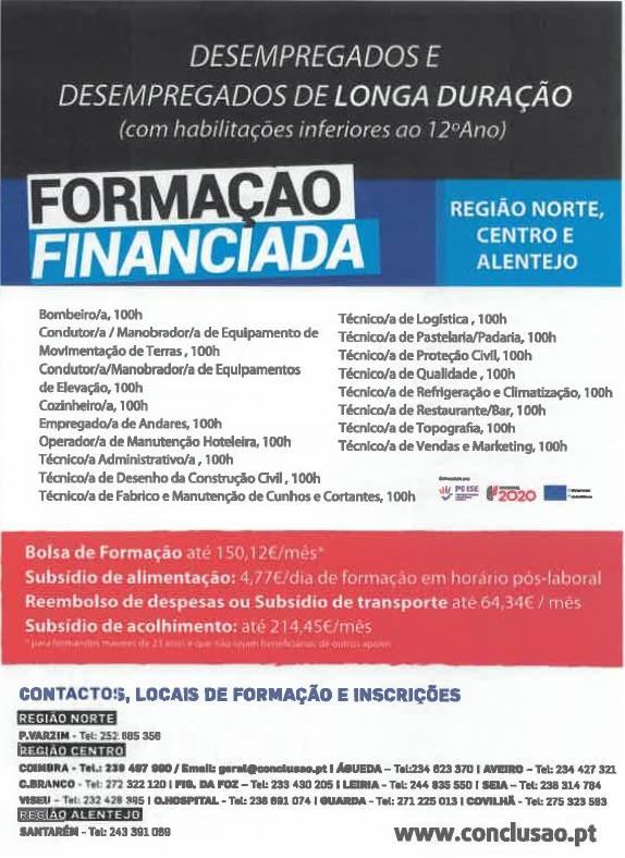 Ofertas de Formação Financiada em Viseu para 2019