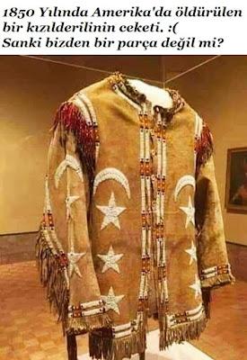 1850 Yılında Amerika'da öldürülen bir kızılderilinin ceketi. :( Sanki bizden bir parça değil mi?, kızılderili, amerika, USA, katliam, soykırım, terörist amerika, zulm, ceket