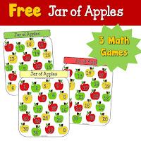 FREE Jar of Apples Math Games