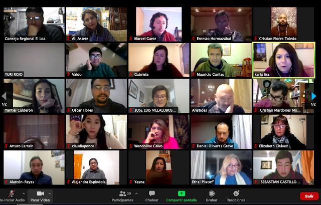 Con un conversatorio reflexivo y participativo periodistas de El Loa celebraron su día nacional